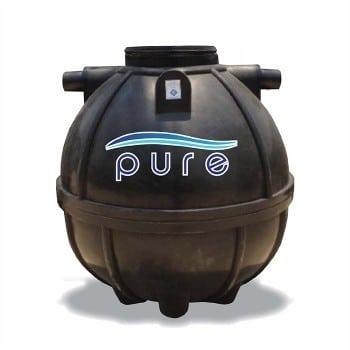 ถังบำบัดน้ำเสียแบบเติมอากาศ ไฟเบอร์กลาส (ทรงกลม) ขนาด 1,000 ลิตร