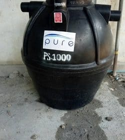 การทำงานถังบำบัดน้ำเสีย1000ลิตร