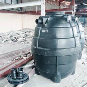 ถังบำบัดน้ำเสียสำเร็จรูปทรงกลมขนาด2000ลิตรราคาถูก